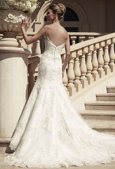 Casablanca Bridal 2117 beautiful, minus spaghetti straps