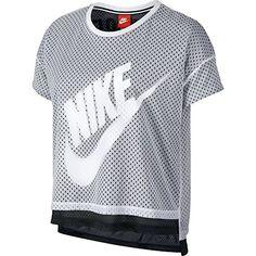 the best attitude 1f8d0 9a5ad NIKE Nike Crop Mesh WomenS T-Shirt Athletic WhiteBlack 726110-100.
