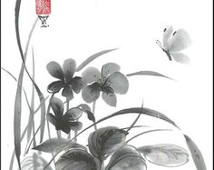 Check out our oriental digital selection for the very best in unique or custom, handmade pieces from our shops. Tao, White Texture Paper, Japanese Art Styles, Sumi E Painting, Sleepy, Original Art, Original Paintings, Zen Meditation, Art Techniques