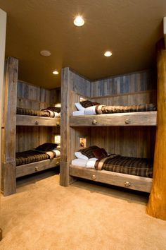 """Explore our internet site for even more details on """"bunk bed designs space saving"""". It is actually an outstanding area to find out more. Rustic Bunk Beds, Cabin Bunk Beds, Bunk Bed Rooms, Bunk Beds Built In, Modern Bunk Beds, Kids Bunk Beds, Bedrooms, Mountain House Decor, Bunk Bed Designs"""