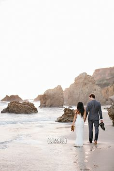 Beach Trash The Dress--- So cute height difference picture pose.