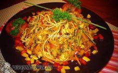 Kínai tésztás csirke recept fotóval