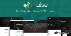 ThemeForest - Mulse - Multi Purpose PSD OnePage Template 20106086