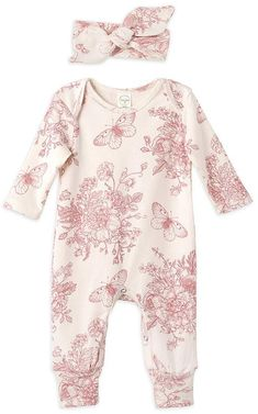 Ivory & Rose Butterfly Playsuit & Headband - Infant Girls #babygirl, #promotion