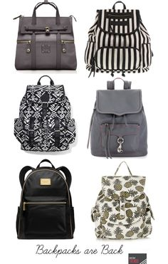 Fall Trend to Try Now: Backpacks. This trend isn't just for kids, we love the chic look of these bags that are great for travel. | MomTrends