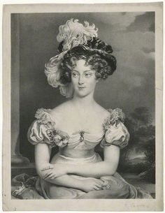 Marie-Caroline de Bourbon-Deux Siciles, Duchesse de Berry    by Pierre Louis ('Henri') Grevedon, after Sir Thomas Lawrence  lithograph, circa 1829 (1825)