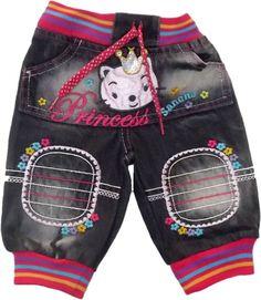 Bebe Kız Naskışlı Ribanalı Pantolon - BeBeLaX® Bebek ve Çocuk Giyimi Toptan Mağazası