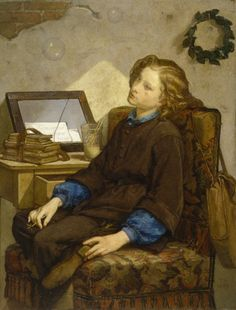 The allegorical painting of Daydreams. The note tucked in the broken glass reads: the lazy one unworthy of living. The Walters Art Museum. http://art.thewalters.org/detail/12349/daydreams/