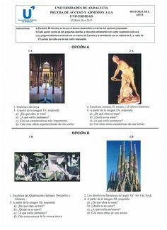 Examen de selectividad de Historia del Arte. Andalucía. Junio 2017. | Historia del Arte 2º de Bachillerato