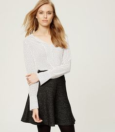 Image of Dotted French Cuff Mixed Media Blouse