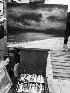 A big tonal piece here in Black and White. Always a good thing to check tones.   #oilpainting #canvas #Norfolk #Art