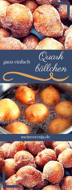 Ganz einfaches Quarkbällchen Rezept für den Thermomix - selbst ausprobiert, al. Very simple quarkballs recipe for the Thermomix - tried it yourself, all steps explained exactly and with guarantee of Easy Cake Recipes, Easy Desserts, Sweet Recipes, Dessert Recipes, Delicious Desserts, Snacks Recipes, Healthy Desserts, Dinner Recipes, Donuts
