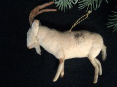 RARE Ibex Antique German Cotton Christmas Ornament Great | eBay