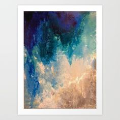 Blue 4 Art Print by sophie_lemieux | Society6