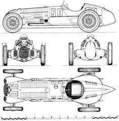1938 Alfa Romeo 12C OW blueprint