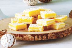 These classic squares have held a place on goodie trays for generations. They're quite simple to make. Take the time to squeeze the lemon juice for this recipe – the fresh flavour is worth the effort.