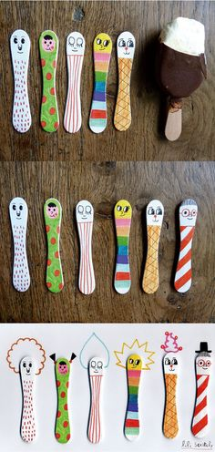 Darling stick people! We will HAVE to HAVE a lot of Magnums to make these!!!!