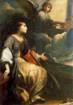 Santa Cecilia, Patron Saint Of Music, Verge, Google Art Project, Catholic Crafts, Music Painting, Old Images, Madonna And Child, Catholic Saints