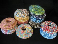 made from washers from you hardware store and fabric. the days… Pattern Weights.made from washers from you hardware store and fabric. the days of pinning you pattern is gone… Sewing To Sell, Sewing Blogs, Sewing Hacks, Sewing Tips, Sewing Ideas, Basic Sewing, Fabric Crafts, Sewing Crafts, Sewing Projects