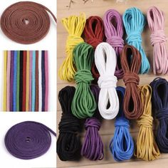 10Ya-2x1mm-Leather-Cord-Suede-Lace-Velvet-Thread-Bracelet-Necklace-Findings-DIY