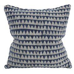 Pyramids indigo cotton cushion 50x50cm