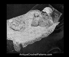 Crochet Baby Blanket - Carriage Cover