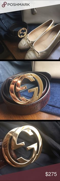 9a4e4b784 Authentic Gucci Belt Rich dark brown with almost red undertones leather in  flawless condition. Gold