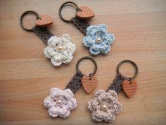 Mocha Flower Key Ring