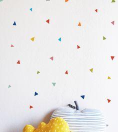 wall art: confetti triangles.