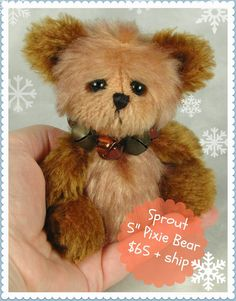 Teddies by Laura Lynn: Sprout - a New Pixie Bear available for adoption