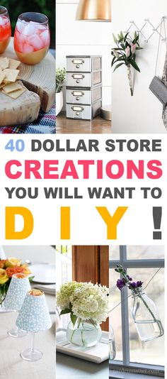 40 Dollar Store Creations You Will Want to DIY - The Cottage Market