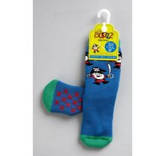Bugzz Welly Socks - Pirate at Wellies and Worms. £4.99. Thick knitted wellie socks with non-slip bobbles on the base.