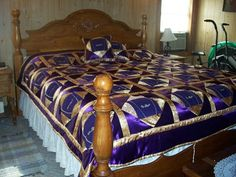Crown Royal Quilt made with Crown Royal Bags & satin, 2 pillows | eBay