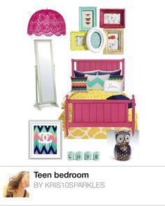 Teen bedroom decor #chevron love the Chanel pic