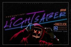 Lightsaber Font + Neon Animation by TheBrandedQuotes on Envato Elements Script Writing, Script Type, Script Lettering, Business Brochure, Business Card Logo, Space Font, Envato Elements, Neon Design, Text Animation