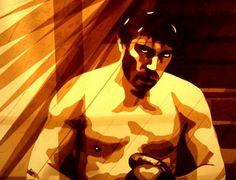 Max Zorn – Packing Tape Portrait / artroomtalent.com