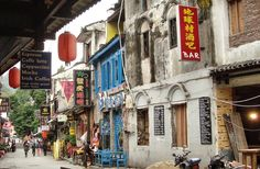 West Street -Yangshuo-Guilin - China  Attribution  by HALUK COMERTEL