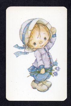 #800.328 Blank Back Swap Card -EXC- Lee, Girl in blue