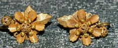 Nice Stanley Hagler  Ear Clips Brass  by FabricGuysTreasures, $45.00