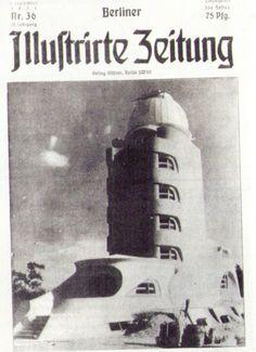 Erich Mendelsohn, Einstein Tower on Front Cover of Berliner Illustrierte Zeitung (1921)