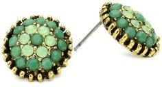 Yochi Apple Green Combo Stone Burst Brim Earrings Yochi. $38.00. Post earring. Made in USA