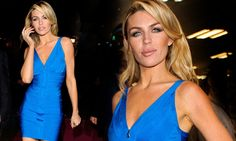 The scent of a woman: Abbey Crouch launches new female fragrance in a very sexy electric blue dress - and she probably smells good too
