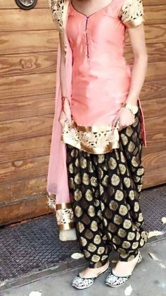 Buy Cotton Patiala Salwar Suit in Pink Colour Online in India at pink color suits you - Pink Things Indian Suits, Indian Attire, Indian Ethnic Wear, Punjabi Fashion, Bollywood Fashion, Indian Fashion, Punjabi Dress, Pakistani Dresses, Indian Dresses