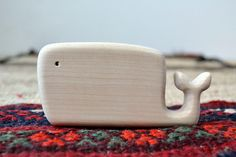 Whale Organic Teether - Children's Wooden Toy - Whale Toy for Baby. $12.00, via Etsy.