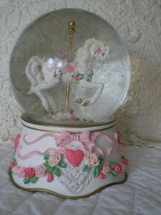 COLLECTIBLE Carousel Music Box by San Fran Co plays Wind Beneath my Wings on Etsy, $26.95