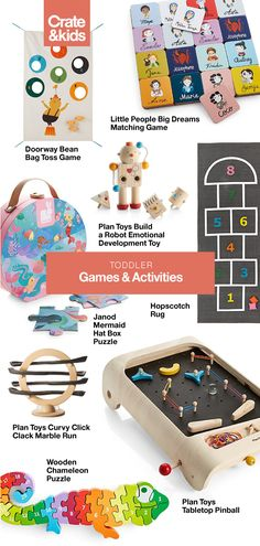 Stimulate young minds with this fun selection of kids' games and puzzles. Whether learning their ABCs and or just playing pretend, shop online. Mind Games For Kids, Fun Mind Games, Number Games For Toddlers, Toddler Playroom, Toddler Toys, Kids Toys, Infant Activities, Activities For Kids, Kid Games Indoor