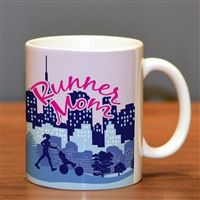 The perfect coffee mug for any runner. Enjoy a cup of coffee in your favorite ceramic mug before you head out for your daily run!