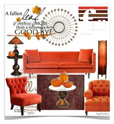 """Fall & Pumpkin"" by angelicallxx ❤ liked on Polyvore featuring interior, interiors, interior design, home, home decor, interior decorating, Avery, Dale Tiffany, Dot & Bo and Cultural Intrigue"