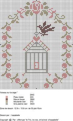 Risultati immagini per oiseau point de croix Cross Stitch Numbers, Just Cross Stitch, Cross Stitch Heart, Cross Stitch Cards, Cross Stitch Animals, Cross Stitch Flowers, Cross Stitching, Cross Stitch Embroidery, Embroidery Patterns