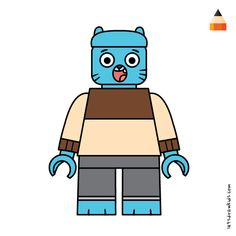 The Amazing World Of Gumball Simpsons Drawings, Drawing Cartoons, Lego Batman, Lego Marvel, Lego Thanos, Baby Toothless, Adventure Time Drawings, Angry Birds Characters, Pig Character
